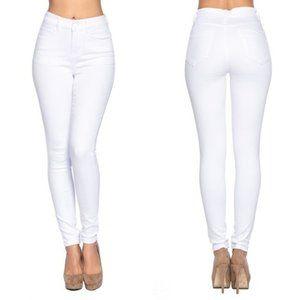 High Waist White Jeans w/ Butt Lift